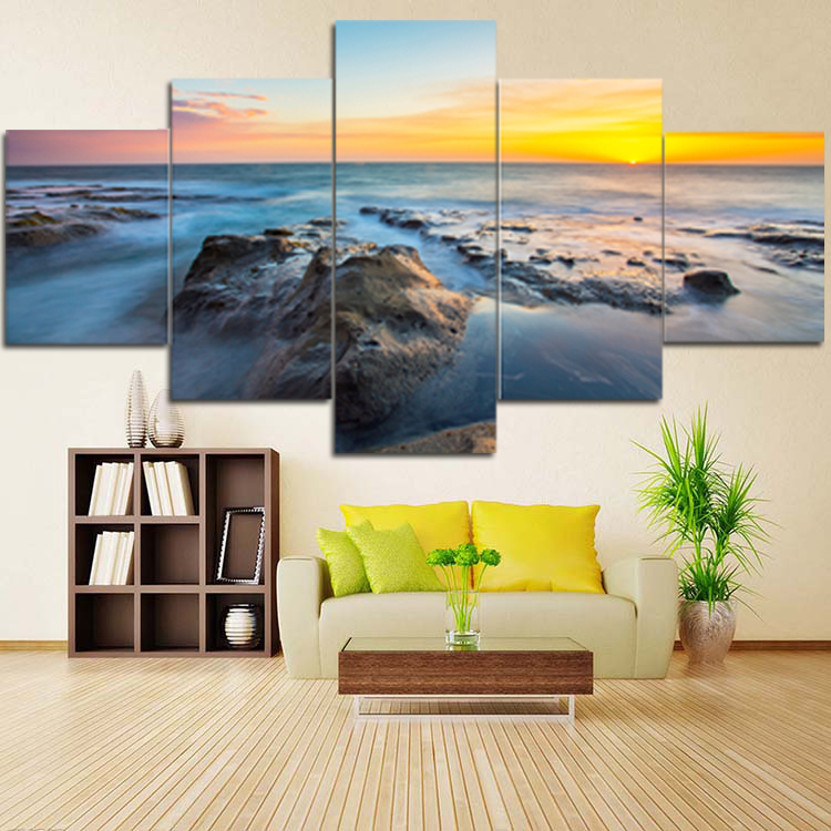 5panels canvas printed giclee printing <strong>services</strong> modern canvas wall decoration pictures art