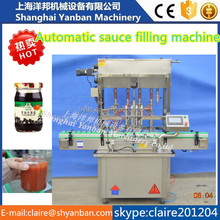 shanghai price YB-JG4 automatic chili sauce bottle filling capping machine