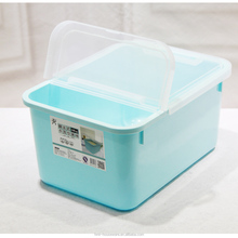 pp wholesale household kitchen using moistureproof large food storage containers plastic rice container with flip top lid