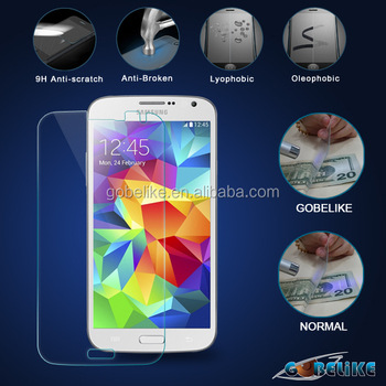clear tempered glass for Samsung Galaxy S5 anti-uv tempered glass screen protector