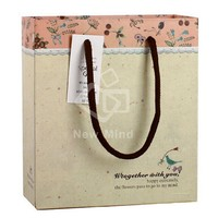 Custom small brown paper kraft gift bags with handles