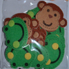 Felt Felties Frog Monkey Stickers Children