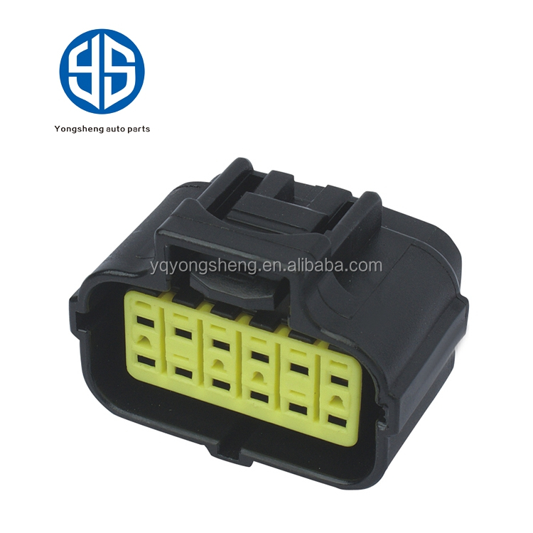 Tyco/Amp 12 way female plug electrical waterproof auto connector with terminals and seals 174661-2/ 184058-1 174661