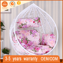 Luxury Rattan Egg Hanging Swing Chair Garden Patio Balcony Wicker Basket Swing