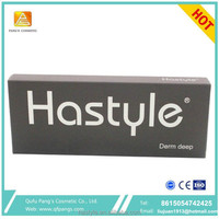 1ml Sterile CE marked manufacturer Hastyle anti wrinkle nose lip cheek enhancement for face injectable deep plus dermal filler