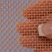 In stock wear resistance 100 200 micron copper fine mesh square wire cloth