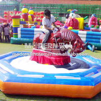 Exciting inflatable red mechanical bull