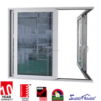10 years warranty China supplier Superhouse exterior used sliding glass doors sale