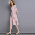 New arrival cheap casual style dresses for fat ladies