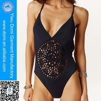 Hot sale crochet hollow out swimsuit cheap one piece plus size bikini swimwear