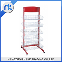China Supply Durable Supermarket Shelf With Hanging Basket