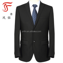 Factory nice business suits polyester /viscose black suits for men