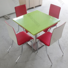 square dining table for 4 people , high quality artificial stone tables