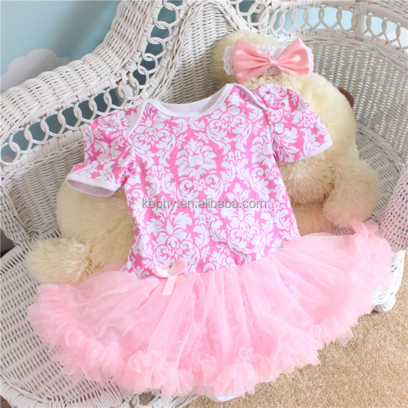 newborn 0-12monthes pink leopard color pettiskirt with pink color short sleeve t shirt ,baby dress,kids rompers with headband