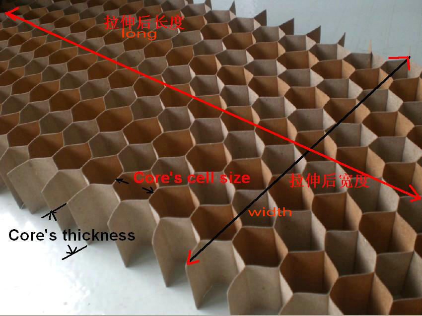 Low Cost Paper Honeycomb Core For Funiture And Door Using
