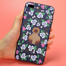 DFIFAN Custom Phone Covers For iPhone 7 ,Florals Colorful Durable TPU PC OEM Fashion Cell Phone Cover for Apple iPhones