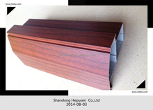 profil alum factory wood color finishing aluminium for door cnc machine made mould