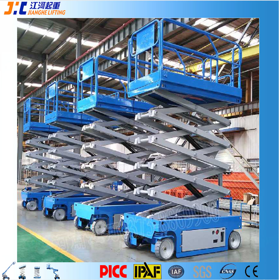 China Manufacturer Self Propelled Man Electric Work Platform Scissor Ladder Lift
