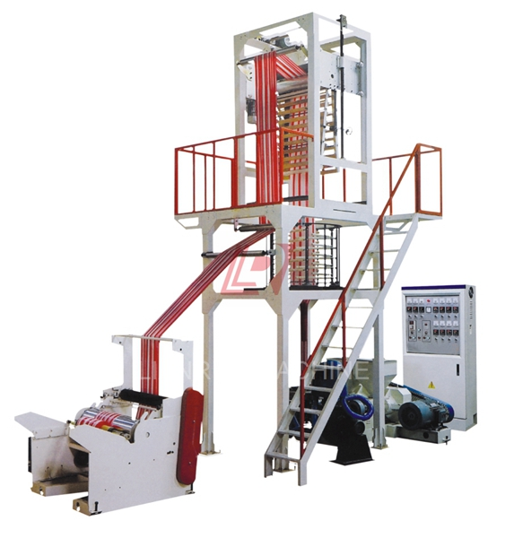 double color pe blown film making extrusion machine