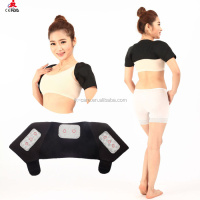 Black Neoprene Shoulder Brace Dislocation Injury Arthritis Pain Magnetic Shoulder Brace Support belt