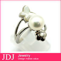 2014 Hot Sale Jewelry Rhinestone Models For Women Smart Pearl Ring