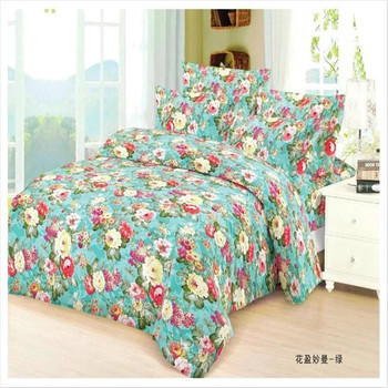 Twill style brush printed bedding set