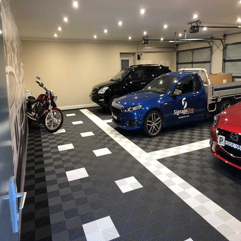 Interlocking garage flooring/ pp plastic floor tiles