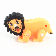 personalized 3D Lion Animal Shape Rubber Pencil erasers for kids/students