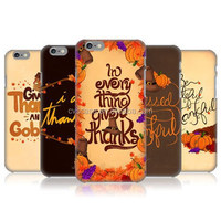 THANKSGIVING TYPOGRAPHY Design Mobile Phone Case For Iphone