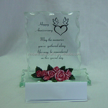 2014 hot sell popular roses wholesale flowers Wedding gift glass rose 3D rose