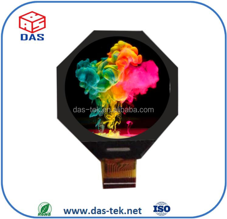 Circle shape lcd 2.1 inch round lcd display with capacitive touch screen