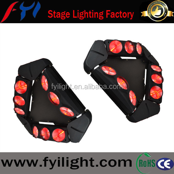 LED Stage Lights Triangle sharpy sweeper beam 9pcs10w 4in1 LED Spider Moving Head