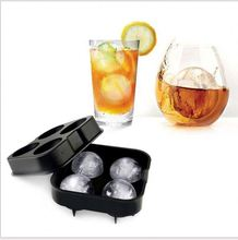4 PCS DIY Cube Tray / Ice Ball Mould / Round Ice Maker
