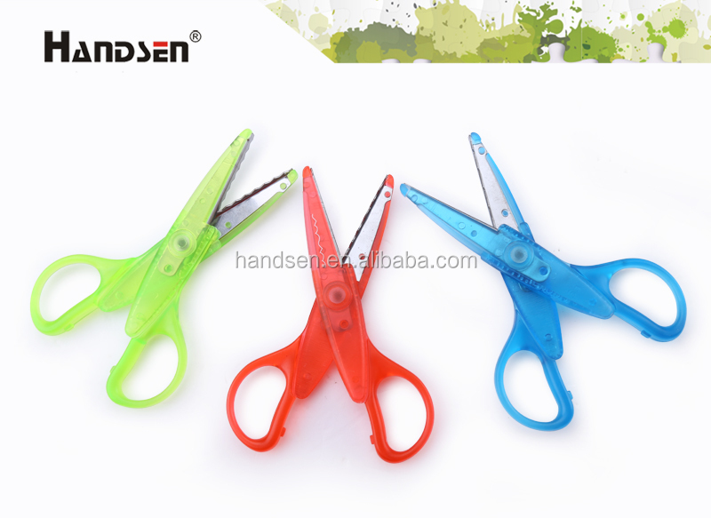 "5-1/2"" popular transparent handle ABS lace scissors"
