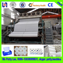 Guangmao new technology toilet tissue paper recycling machine for sale with 2880/250 15Ton/Day capacity