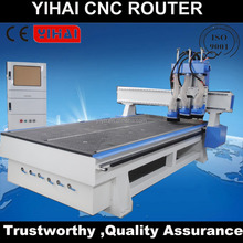 1325 Pneumatic multi heads ATC tools changer wood cnc machine/3 or 4 heads cnc router with servo motor