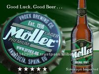 MOLLER Lager Beer 5.0% in glass bottle 24X33CL