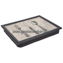 plastic lap tray with UV finish