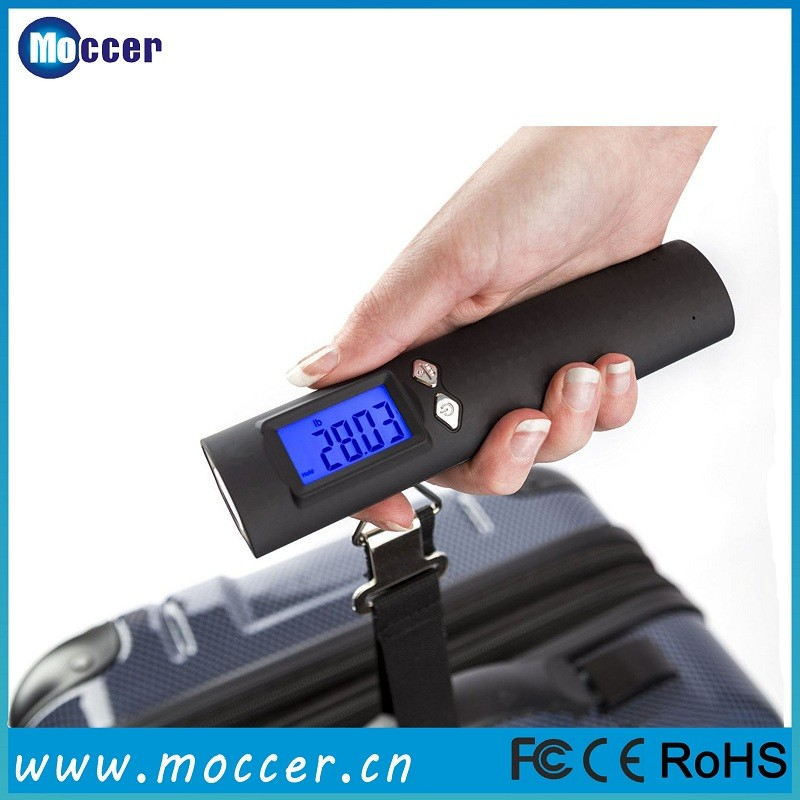 High quality electronic weighing portable digital luggage scale 50kg with powerbank