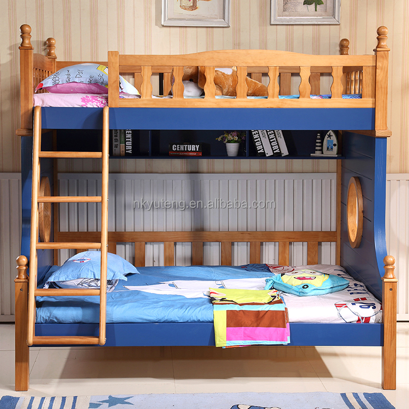 Nankang solid wood Children bed 1.2m 1.5m kids bed bunk bed with ladder