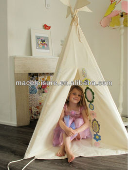 Hot sale cotton canvas indian tent for children / kids toy tent