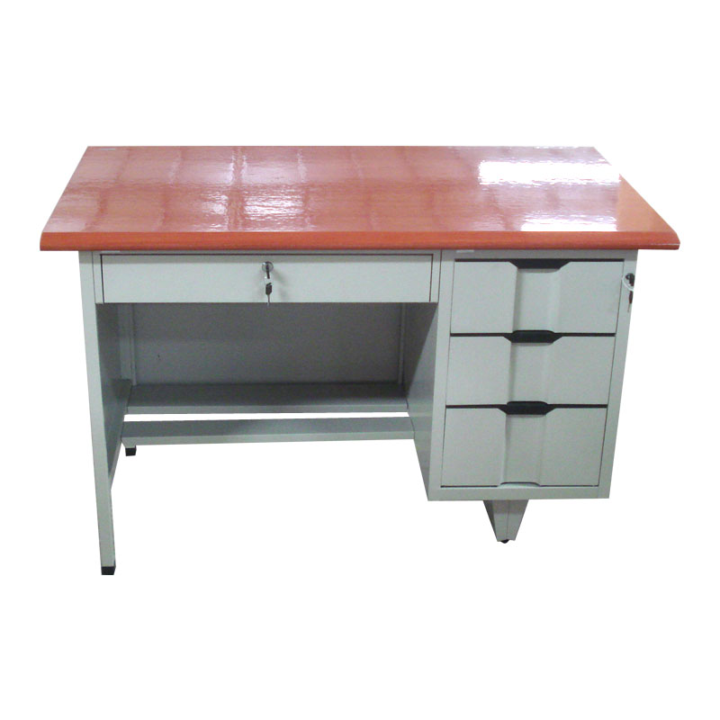 School students used melamine MDF board metal frame office desk for sale