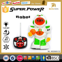 High quality battery operated toy smart kids rc robot with light and sound