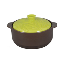 Chinese Supplier Stone Round Cooking Pot Emboss For Lid