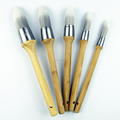LARY Eco-friendly Bamboo Handle Round Paint Brushes