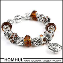 Jewelry Coffee Filled Crystal Beads Womens Bracelets