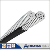 Factory price low voltage alumininum Conductor Pekingese XLPE insulated aerial bundle cable ABC cable