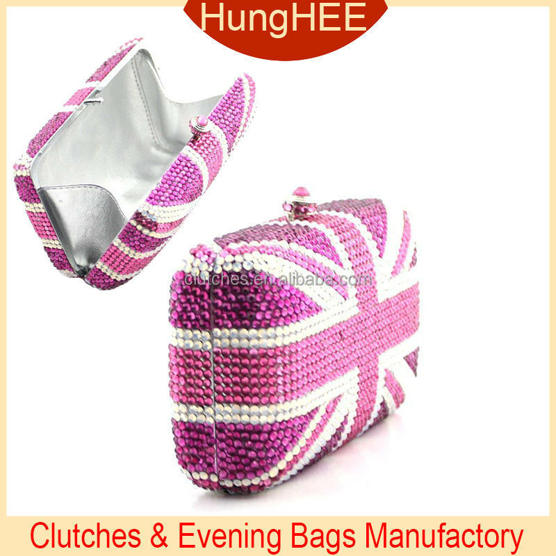 Designer evening crystal bag pink and white Crystal Evening Bags UK