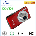 "Max 15MP 5x Optical Zoom Digital Compact Camera Mini DVR With 2.7"" LCD Display"