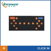 Vehicle mounted led traffic arrow board